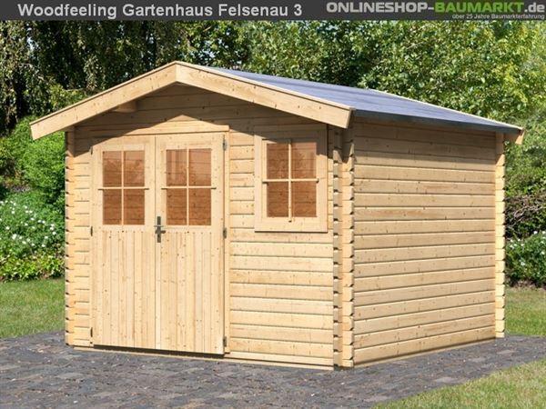 Woodfeeling Gartenhaus 38 mm Felsenau Gr. 3