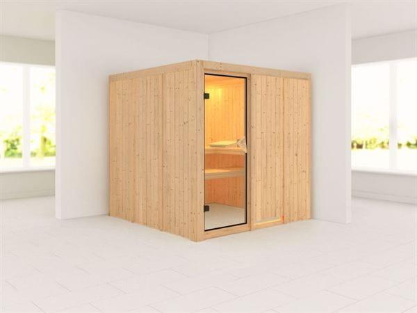 Rodin - Karibu Sauna ohne Ofen - ohne Dachkranz -