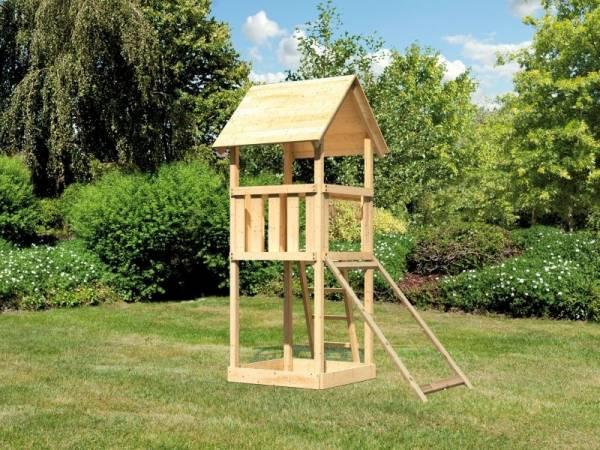 Akubi Spielturm Lotti mit Netzrampe