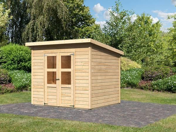 Karibu Gerätehaus Merseburg 5 natur 14 mm