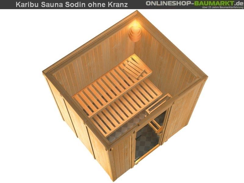 karibu elementsauna sodin 68 mm fronteinstieg traditionell. Black Bedroom Furniture Sets. Home Design Ideas