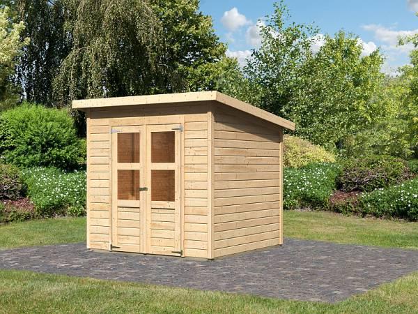 Karibu Gerätehaus Merseburg 4 natur 14 mm