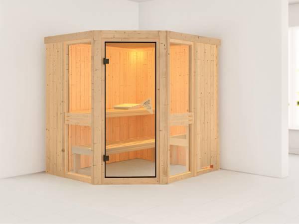 Amelia 1 - Karibu Sauna ohne Ofen - ohne Dachkranz -