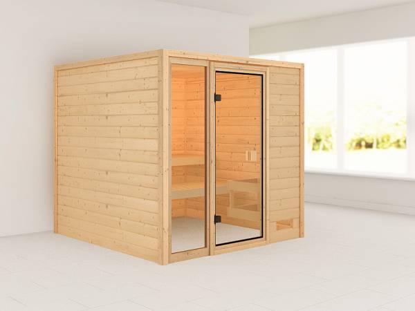 Karibu Woodfeeling Sauna Jutta 38 mm