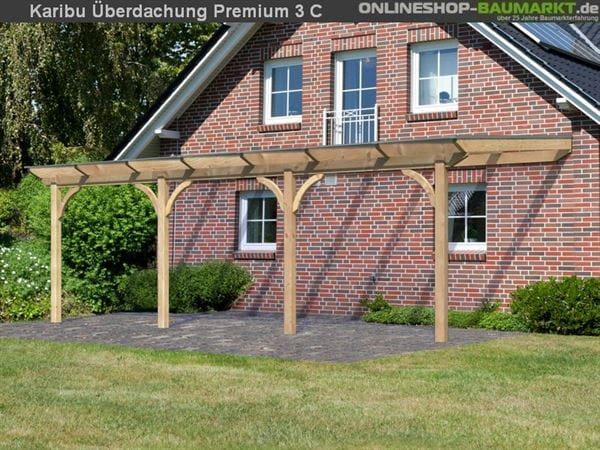 Karibu Terrassenüberdachung Premium Modell 3 Gr. C