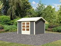 Karibu Woodfeeling Gartenhaus Tastrup 7 in terragrau