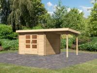 Karibu Woodfeeling Gartenhaus Bastrup 5 mit Schleppdach 2 Meter