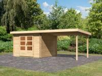 Karibu Woodfeeling Gartenhaus Bastrup 5 mit Schleppdach 3 Meter