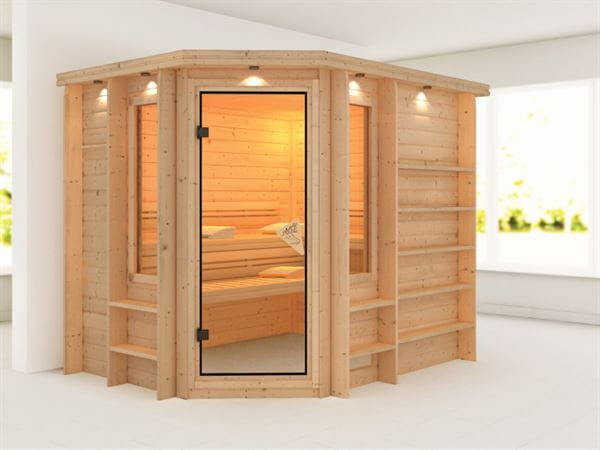 Riona - Karibu Sauna Premium ohne Ofen