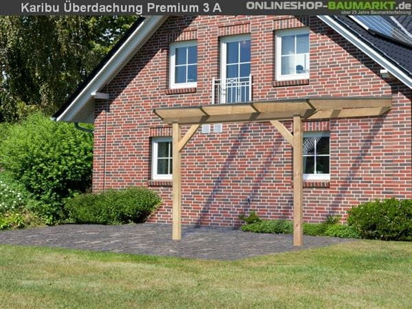 Karibu Terrassenüberdachung Premium Modell 3 Gr. A