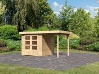 Karibu Woodfeeling Gartenhaus Askola 2 mit Anbaudach 1,50 Meter