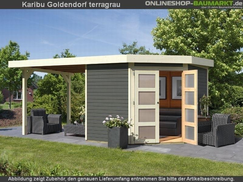 karibu gartenhaus goldendorf 5 terragrau g nstig bei osb. Black Bedroom Furniture Sets. Home Design Ideas